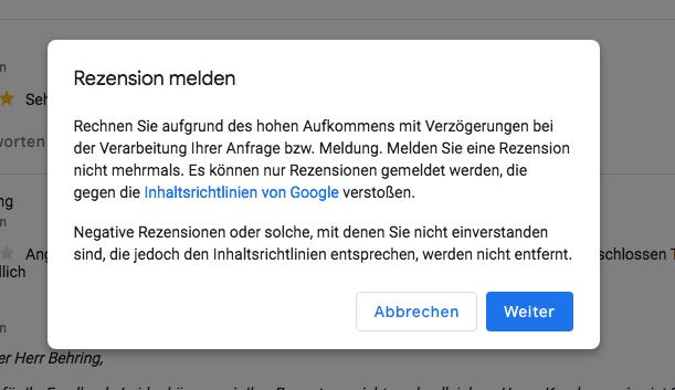 Google Bewertung Löschen Lassen Negativefalsche Rezension Löschen